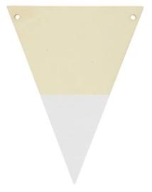 Houten vlaggenlijn wit
