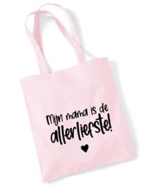 Katoenen tas 'Mijn mama is de allerliefste'