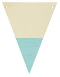 Houten vlaggenlijn lichtblauw