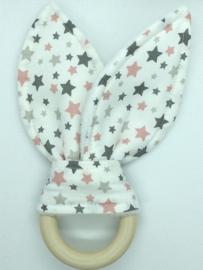 Little Bunny - sterren roze/grijs