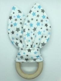 Little Bunny - sterren blauw/grijs