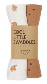 LITTLE SWADDLES TONKA/DOTS NUT