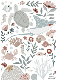 STICKER BOARD A3 (29,7X42CM) - OCEAN DREAM & FLOWERS