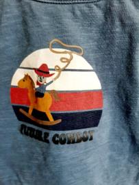 T-SHIRT BLAUW COWBOY