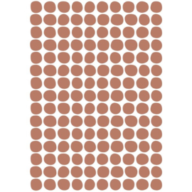 STICKER BOARD A3 (29,7X42CM) - SPOTS BASIC TERRACOTTA