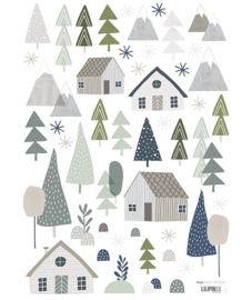 STICKER BOARD A3 (29,7X42CM) - TREES AND SHEDS