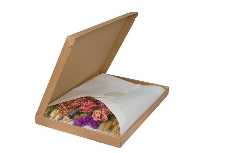 Droogbloemen in Letterbox Pink