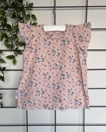 Shirtje Lilly roze met 1-hoorntjes