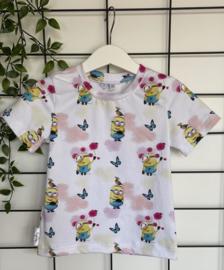 T-shirt Loïse wit met minions print