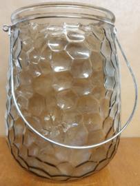 Windlicht bruin glas