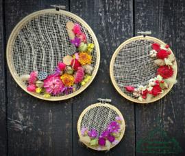 Wooncirkels met droogbloemen DIY