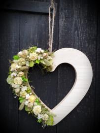 Hart met droogbloemen DIY