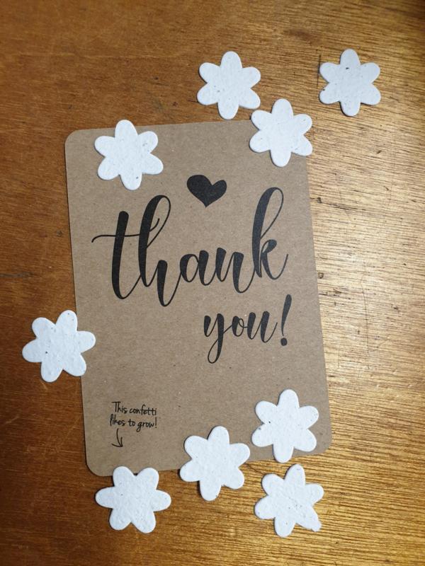 Thank you met confetti