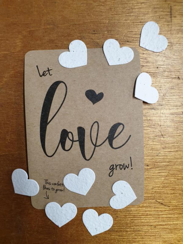 Let love grow met confetti