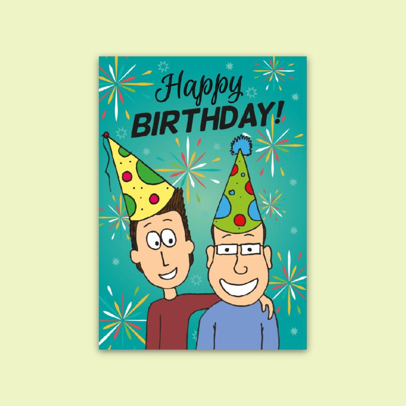 Ansichtkaart Happy Birthday!