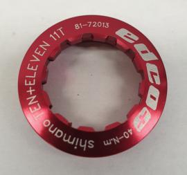 """Edco  """"TEN+ELEVEN"""" Locknut, rood 11T"""