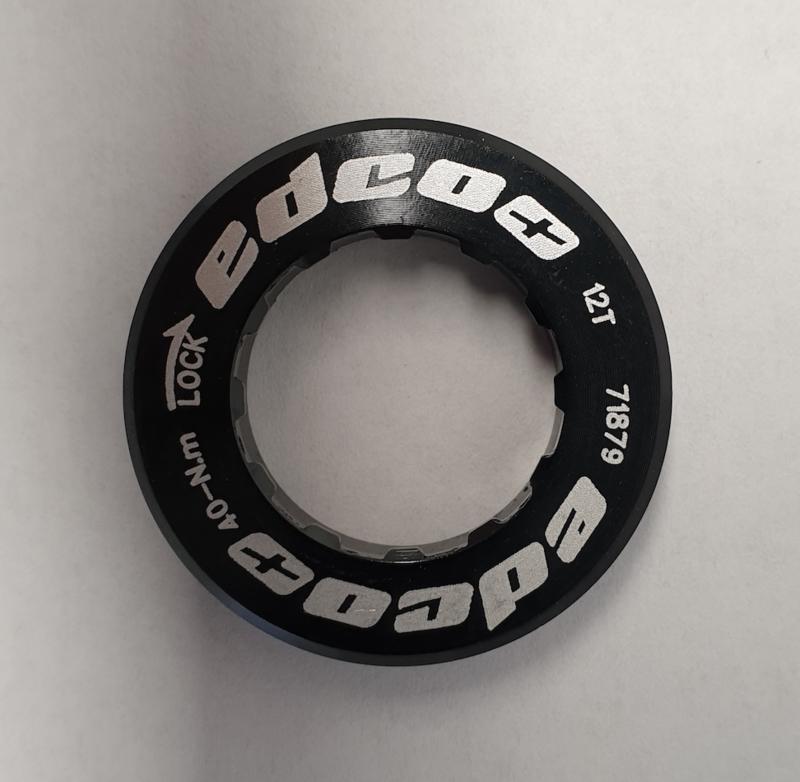 Edco Campagnolo locknut, zwart 12T
