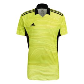 Adidas Condivo 2021 geel  keepersshirt korte mouw