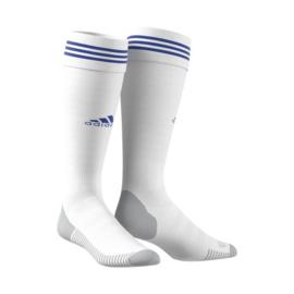 Witte voetbalsok Adidas blauwe ring