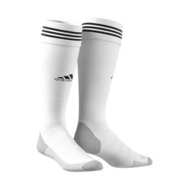 Witte voetbalsok Adidas zwarte ring
