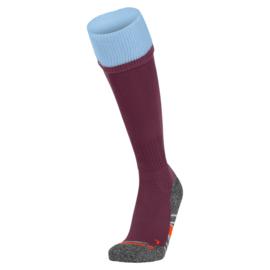 Bordeaux Stanno sokken met blauwe band