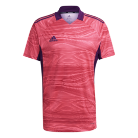 Adidas Condivo 2021 pink  keepersshirt korte mouw