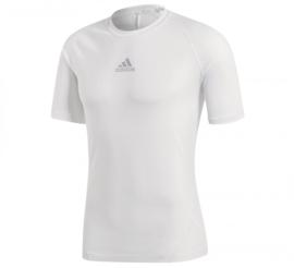 Wit Adidas thermoshirt korte mouw