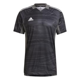Adidas Condivo 2021 zwart  keepersshirt korte mouw