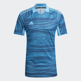 Adidas Condivo 2021 blauw keepersshirt korte mouw