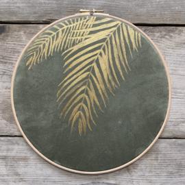 Muurhanger suedine botanisch 25 cm handgeschilderd
