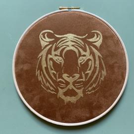 Muurhanger animal suedine 20 cm handgeschilderd
