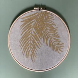 Muurhanger botanisch linnen 20 cm handgeschilderd