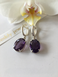 amethyst earrings (silver)