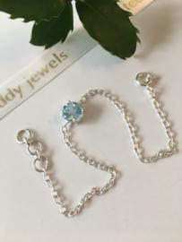 blauwe topaas armband (zilver)