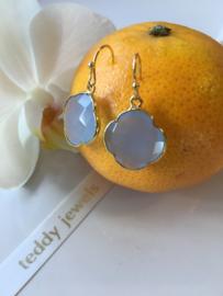greyblue chalcedony earrings