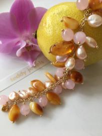 honey amber pearl bracelet