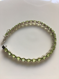 peridot tennis armband (4mm breed)