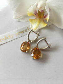 madeira citrine silver earrings