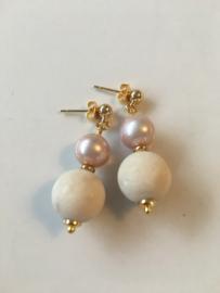 fossil pinkpurple earrings