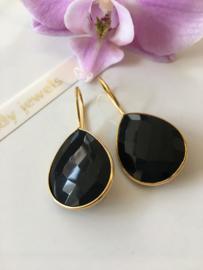 black onyx earrings (drop)