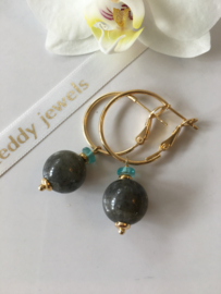 labradorite apatite earrings