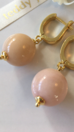 roze opaal oorbellen