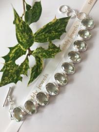 green amethyst bracelet (silver)