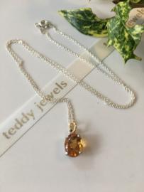 citrine necklace (silver)