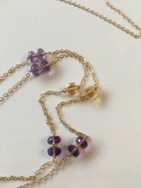 citrine amethyst necklace