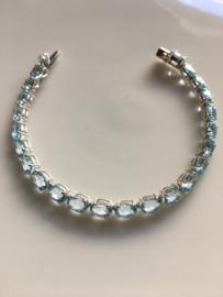 blauwe topaas tennis armband (5mm breed)