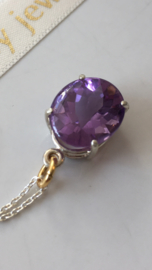 amethyst necklace (silver)