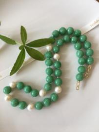 groene angeliet parel ketting