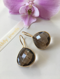 smoky quartz earrings (drop)