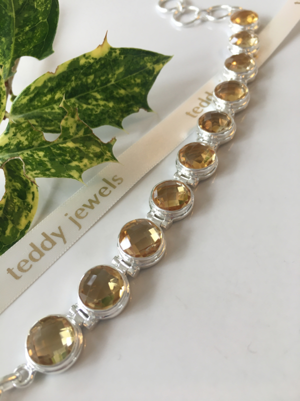 citrine bracelet (silver)